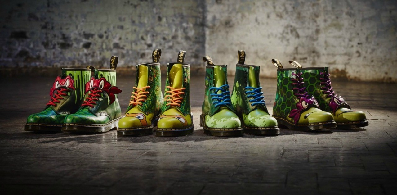 Here are Dr. Martens inspired by the Teenage Mutant Ninja Turtles