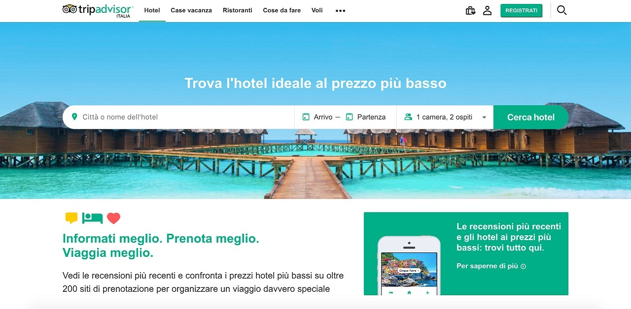 Tripadvisor changes: new graphics and more features