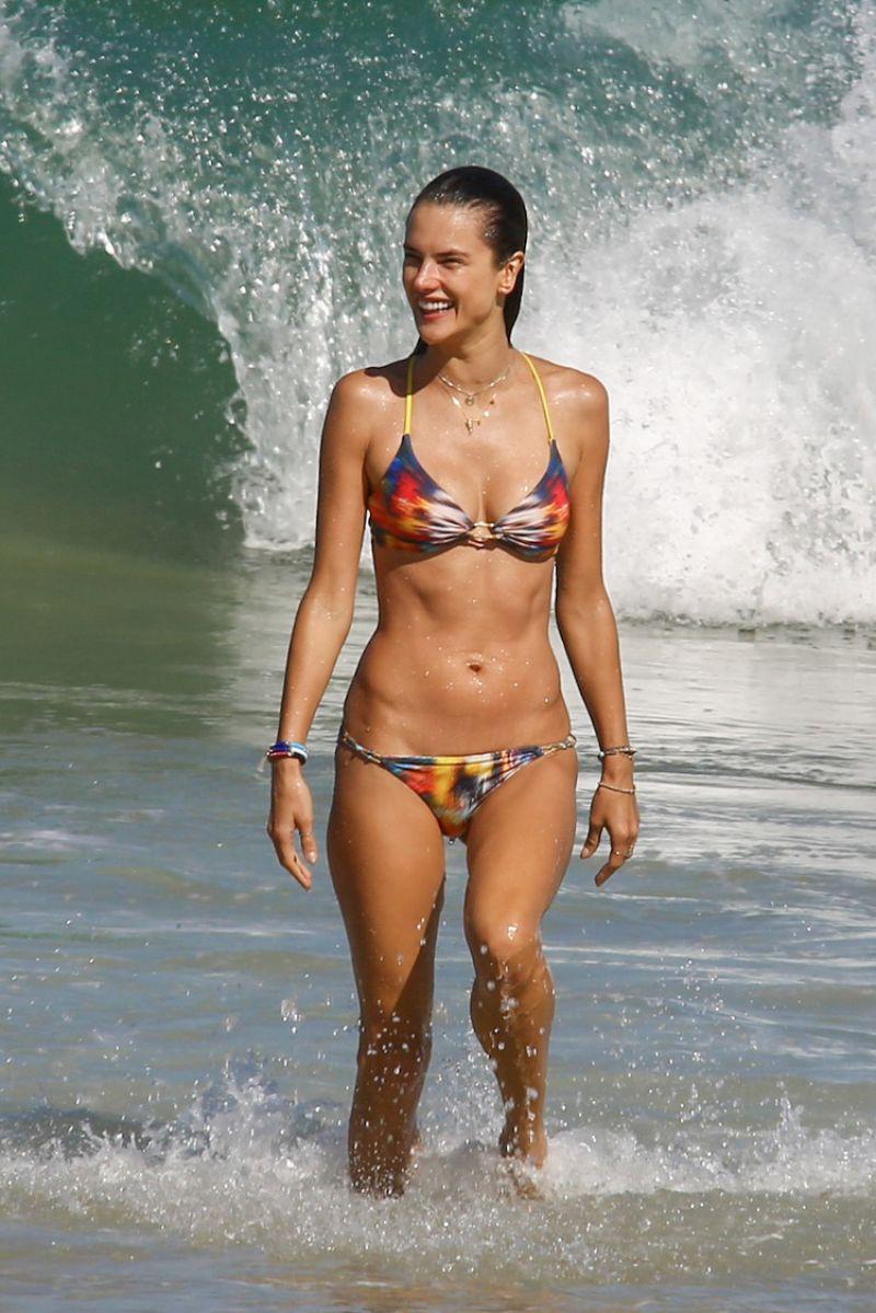 The fiery summer of Alessandra Ambrosio