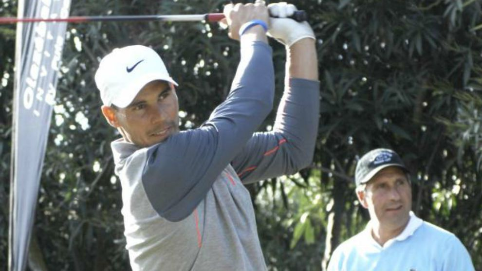 Rafael Nadal is competing in the Balearic Golf Championships